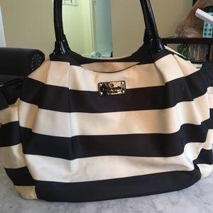 kate spade navy white stripe diaperbag